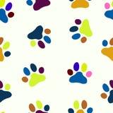 Bezszwowa łapy dziecka ilustracja Zwierzę domowe zoo wzór Obrazy Royalty Free