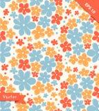 Bezszwowa śliczna tekstura z kwiatami Niekończący się kwiecisty wzór Obrazy Stock