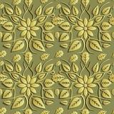 Bezszwowa abstrakcjonistyczna ilustracja natura Postać 3D, liście, flo royalty ilustracja