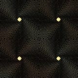 Bezszwowa abstrakcjonistyczna tekstura w postaci tapicerowanie tkaniny z złocistymi guzikami Zdjęcia Royalty Free