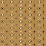 Bezszwowa abstrakta wzoru oka płytka z brown tłem Obraz Stock