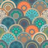 Bezszwowa abstrakta wzoru rama modny barwiony ilustracji
