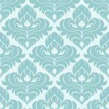 Bezszwowa błękitna ornamentacyjna tapeta dla projekta Zdjęcia Stock