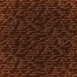 Bezszwowa brown eleganci ręka pisze wzorze Obrazy Royalty Free