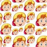 Bezszwowa chłopiec z szczęśliwą twarzą Fotografia Stock