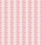 Bezszwowa czerwona pionowo linia tkaniny płótno Zdjęcia Royalty Free