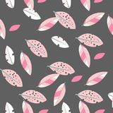 Bezszwowa dekoracyjna szablon tekstura z liśćmi ilustracja wektor