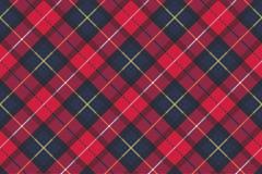 Bezszwowa deseniowa czek szkockiej kraty tkaniny tekstura Zdjęcie Stock