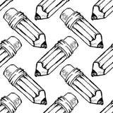 Bezszwowa deseniowa Handdrawn ołówkowa doodle ikona R?ka rysuj?cy czarny nakre?lenie szyldowy symbol Dekoracja element Bia?y t?o royalty ilustracja