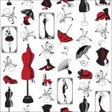 Bezszwowa deseniowa moda Zdjęcie Royalty Free