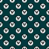 Bezszwowa deseniowa panda ilustracja wektor