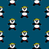 Bezszwowa deseniowa panda royalty ilustracja