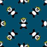 Bezszwowa deseniowa panda zdjęcia royalty free