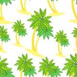 Bezszwowa deseniowa para drzewka palmowe na wyspie Obraz Stock