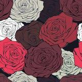 bezszwowa deseniowa retro róża Obrazy Stock