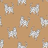 Bezszwowa deseniowa sylwetka mysz i kot Fotografia Royalty Free