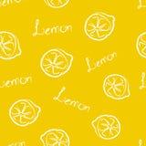 Bezszwowa Deseniowa Żółta cytryna Obrazy Royalty Free