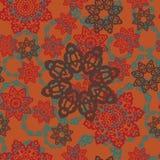 Bezszwowa deseniowa tekstura Używać indianina, Arabskiego, otomanów stylowi elementy lubi mandala Rocznika wektoru płytka ręka pa royalty ilustracja