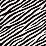 Bezszwowa deseniowa zebra Czarny i biały kolory royalty ilustracja