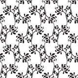 Bezszwowa galanteryjna lotosowego kwiatu tapeta Obraz Royalty Free