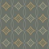 Bezszwowa geometryczna deseniowa retro ilustracja Zdjęcia Royalty Free