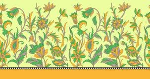 Bezszwowa granica dla tekstylnego projekta Fotografia Royalty Free