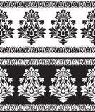 Bezszwowa granica dla tekstylnych tkanin Fotografia Royalty Free