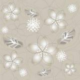 Bezszwowa grey srebra kwiatu tapeta ilustracji