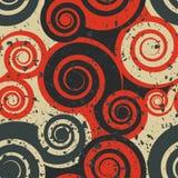 Bezszwowa grunge abstrakcjonistyczna pomarańcze Obraz Stock