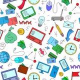 Bezszwowa ilustracja na temacie przychody i technologie informacyjne Obrazy Stock