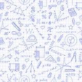 Bezszwowa ilustracja temat matematyki lekcja w szkole Zdjęcia Royalty Free