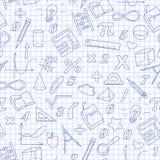 Bezszwowa ilustracja temat matematyki lekcja w szkole Zdjęcie Stock