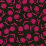 Bezszwowa ilustracja z kwiatami, kwiatu wzór Fotografia Royalty Free