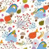 Bezszwowa jesień tekstura. Zdjęcie Royalty Free