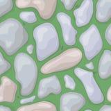 Bezszwowa kamień zieleń z mrówkami Fotografia Royalty Free