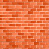 bezszwowa konsystencja Czerwonej cegły bielu ściana Fotografia Stock