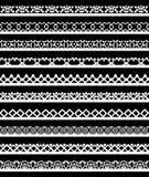Bezszwowa koronki granica Obrazy Stock