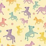 bezszwowa kreskówki zebra Zdjęcie Royalty Free