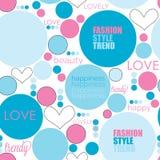Bezszwowa kropki mody miłości wzoru wektoru ilustracja Fotografia Royalty Free