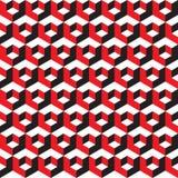 Bezszwowa kubiczna abstrakcjonistyczna geometryczna isometric deseniowa tło tekstura ilustracja wektor