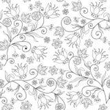 Bezszwowa kwiat tekstura na białym tle Zdjęcia Royalty Free