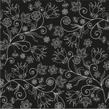 Bezszwowa kwiat tekstura na czarnym tle Obraz Stock