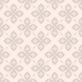 Bezszwowa kwiecista geometryczna deseniowa tapeta ilustracji