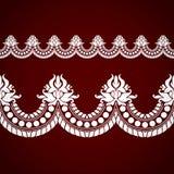 Bezszwowa kwiecista tafluje granica Obraz Royalty Free