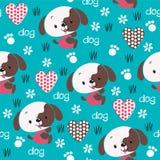 Bezszwowa śliczna psa wzoru wektoru ilustracja Fotografia Stock