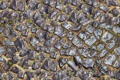 Bezszwowa mieszana wielkościowa brukowa tekstura Zdjęcia Royalty Free