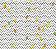 Bezszwowa mozaika liście royalty ilustracja