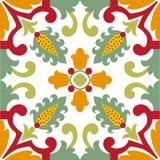 Bezszwowe zielone ornament płytki Obraz Royalty Free