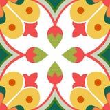 Bezszwowe żółte ornament płytki Fotografia Royalty Free