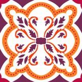Bezszwowe menchia ornamentu płytki Obrazy Stock